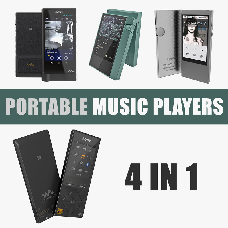 3D portable music players