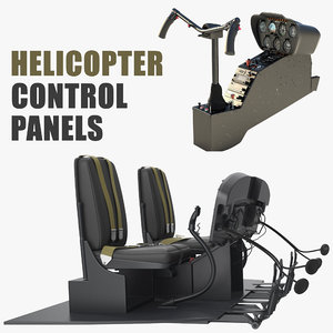 helicopter control panels 3D model