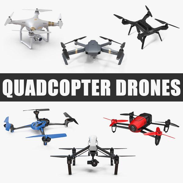 quadcopter drones quad 3D