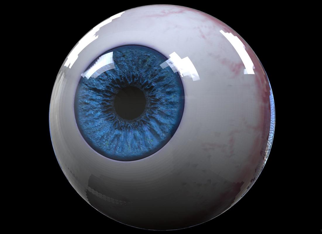 realistic eyeball hd model