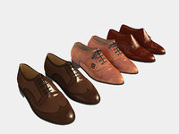 shoes leather 3D model