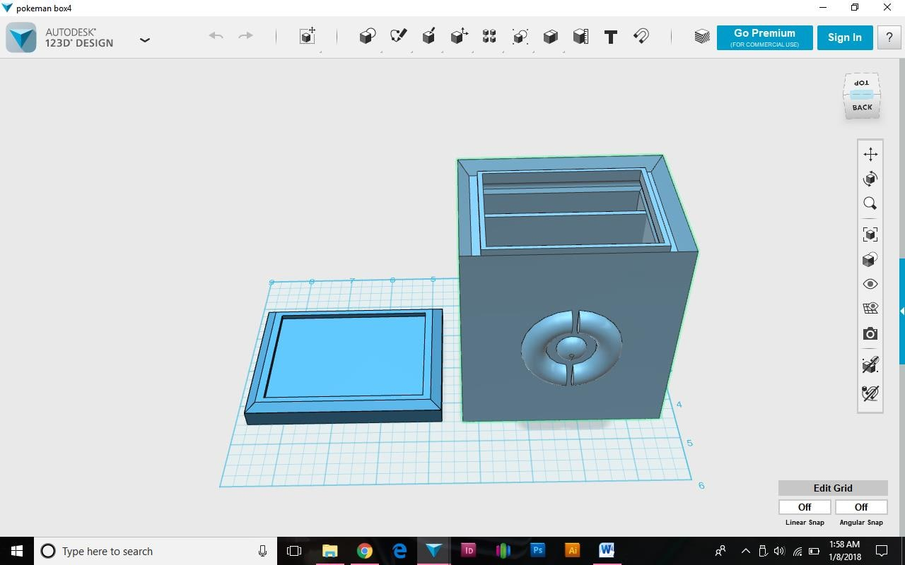 3D model box pokemon card lid