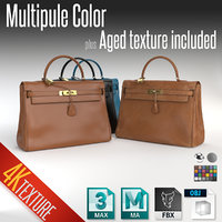 hermes kelly handbag new 3D model