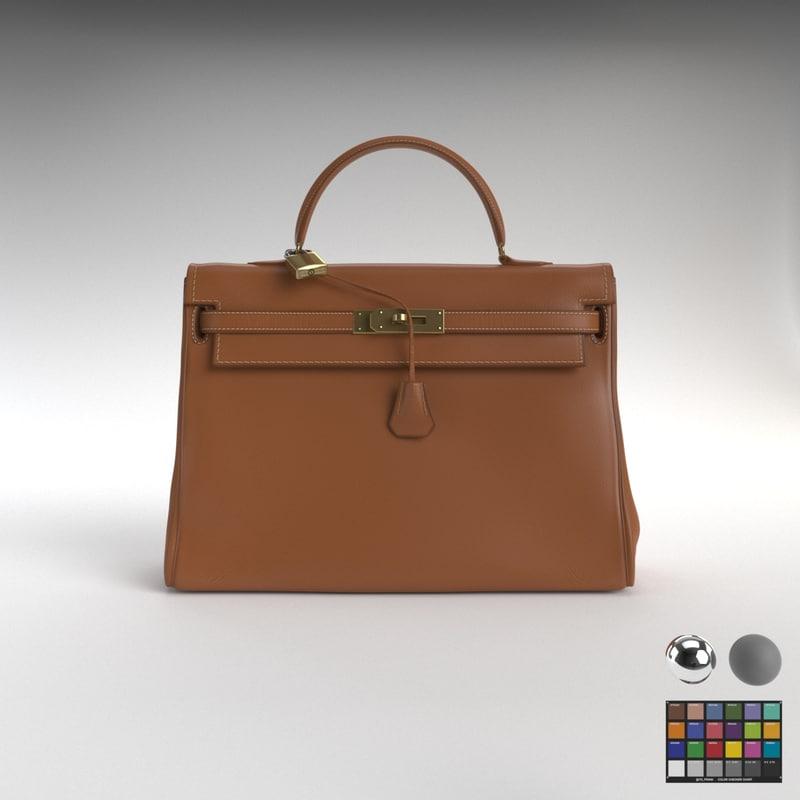 964f613e8337 Hermes kelly handbag new 3D model - TurboSquid 1240858