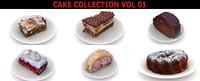 pieces cakes 3D model