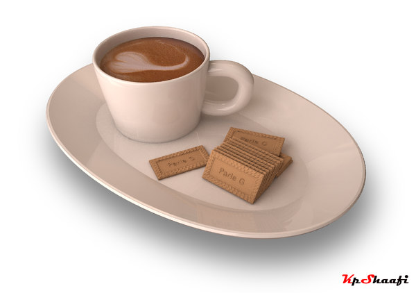 3D tea biscuit