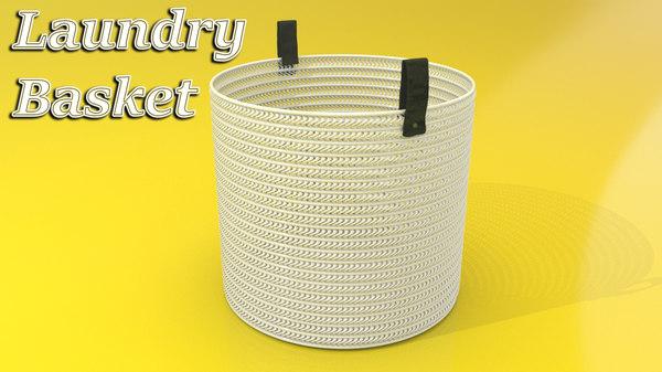 laundry basket 3D