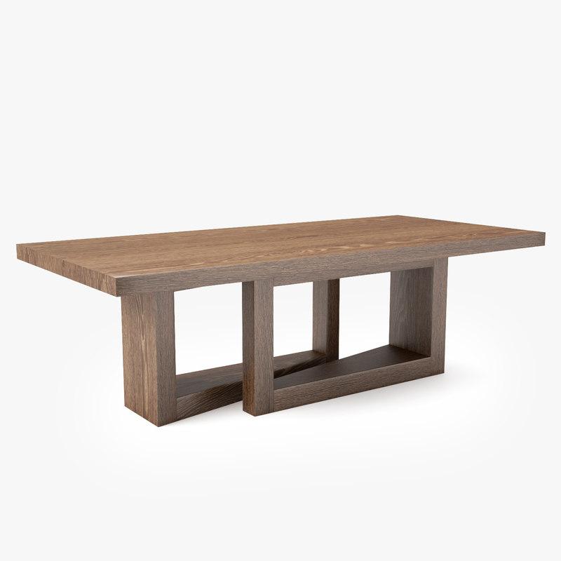 3D altura furniture oblique table