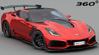 3D chevrolet corvette zr1 c7 model