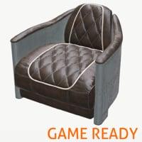 3D modern interior chair loft
