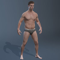 male fullbody rigged 3D