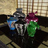 vases japanese 3D model