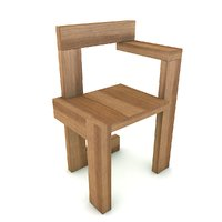 steltman chair gerrit rietveld 3D model