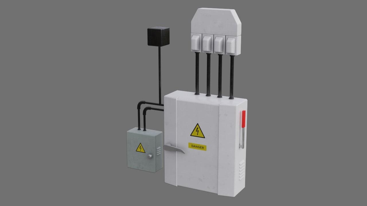 3D model fuse box