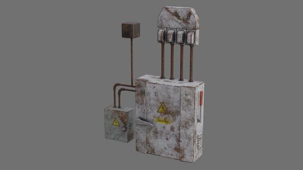 3D fuse box 1b model