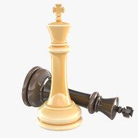 king - chess piece 3D model