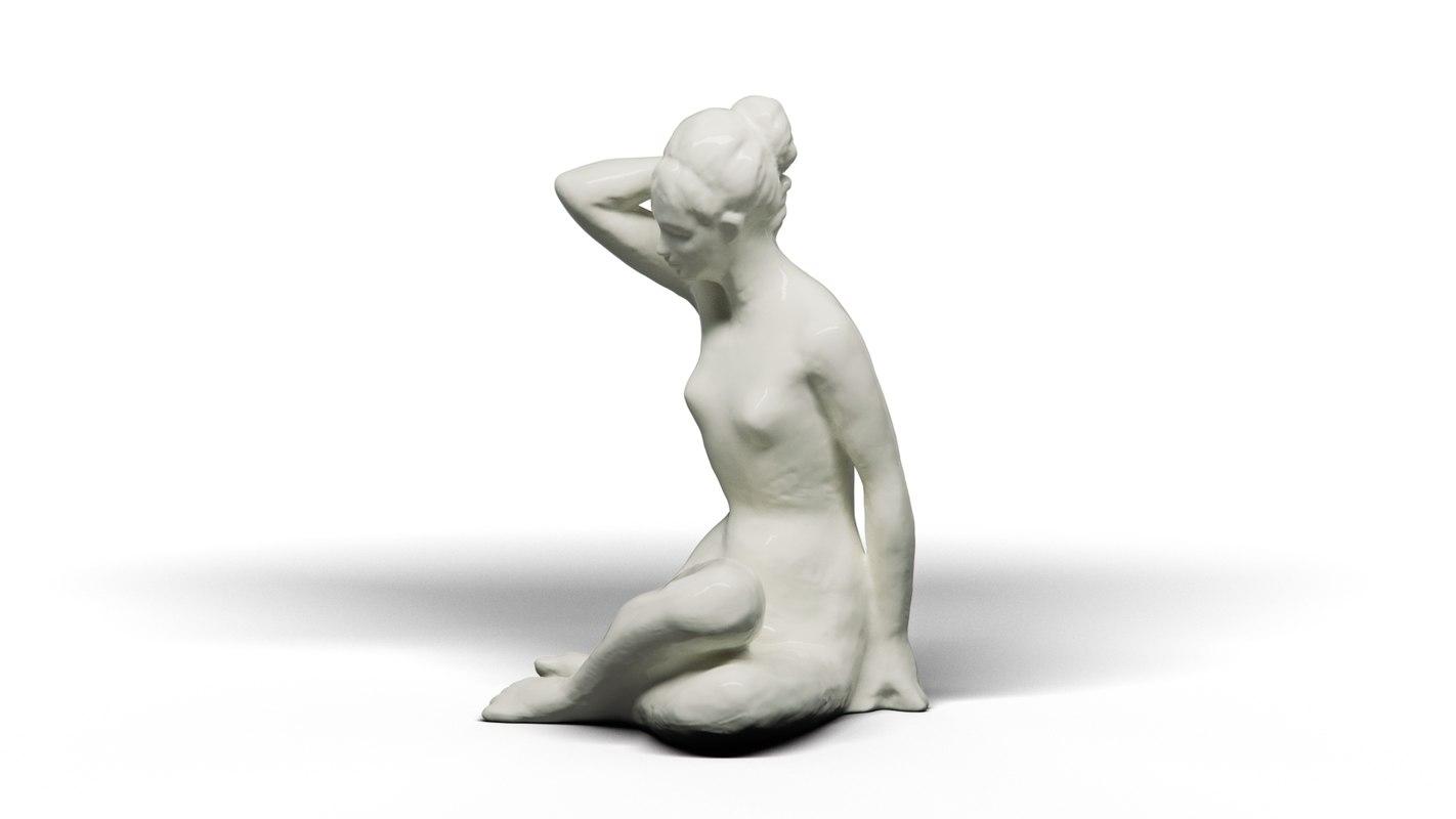 3D resting girl