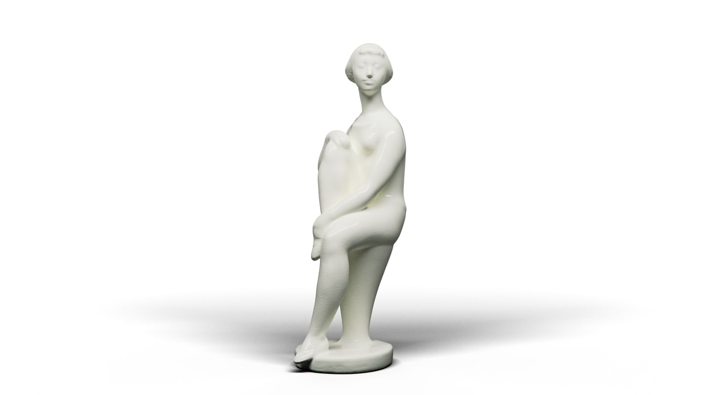 3D sitting girl