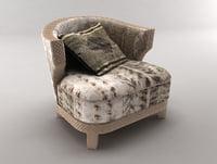 3D armchair nail model