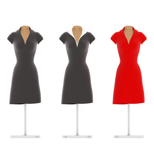 dress mannequin 3D model