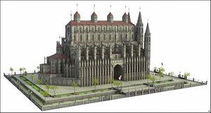 church fantasy 3D model