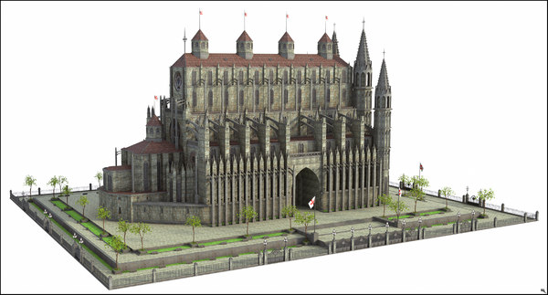church fantasy 3D model