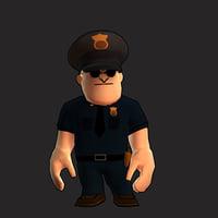 3D police man