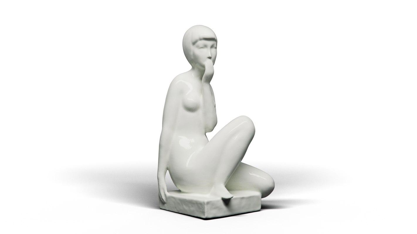 girl ceramics 3D model