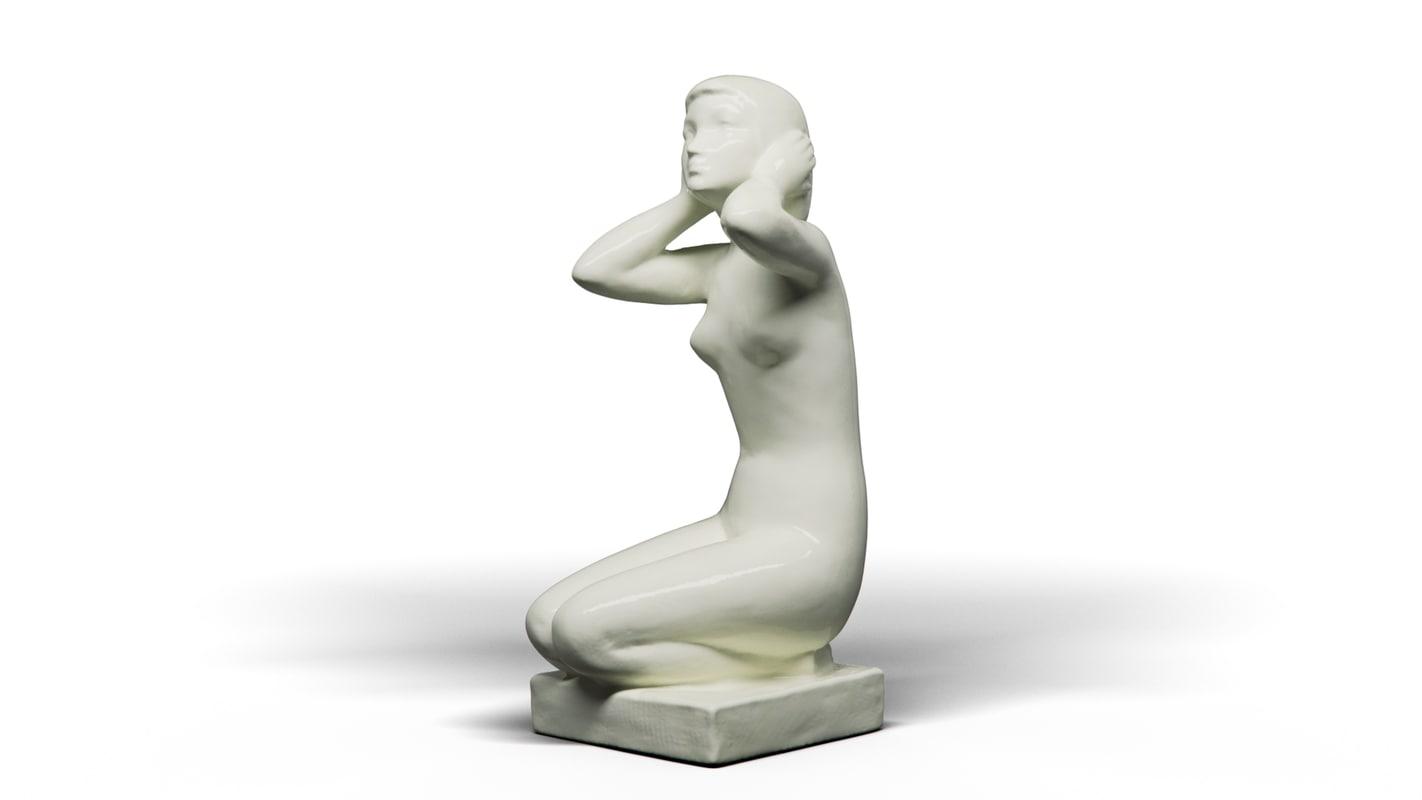 kneeling girl 3D model