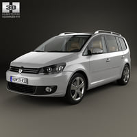 3D volkswagen touran hq model