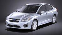 Subaru Impreza 2013 sedan VRAY