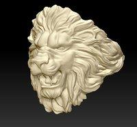 3D model ring lion light