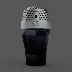 men eau parfume bottle 3D model