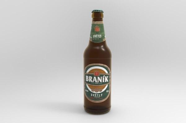 branik beer bottle 3D