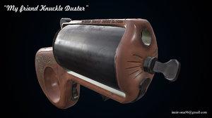 3D low-poly mini gun model