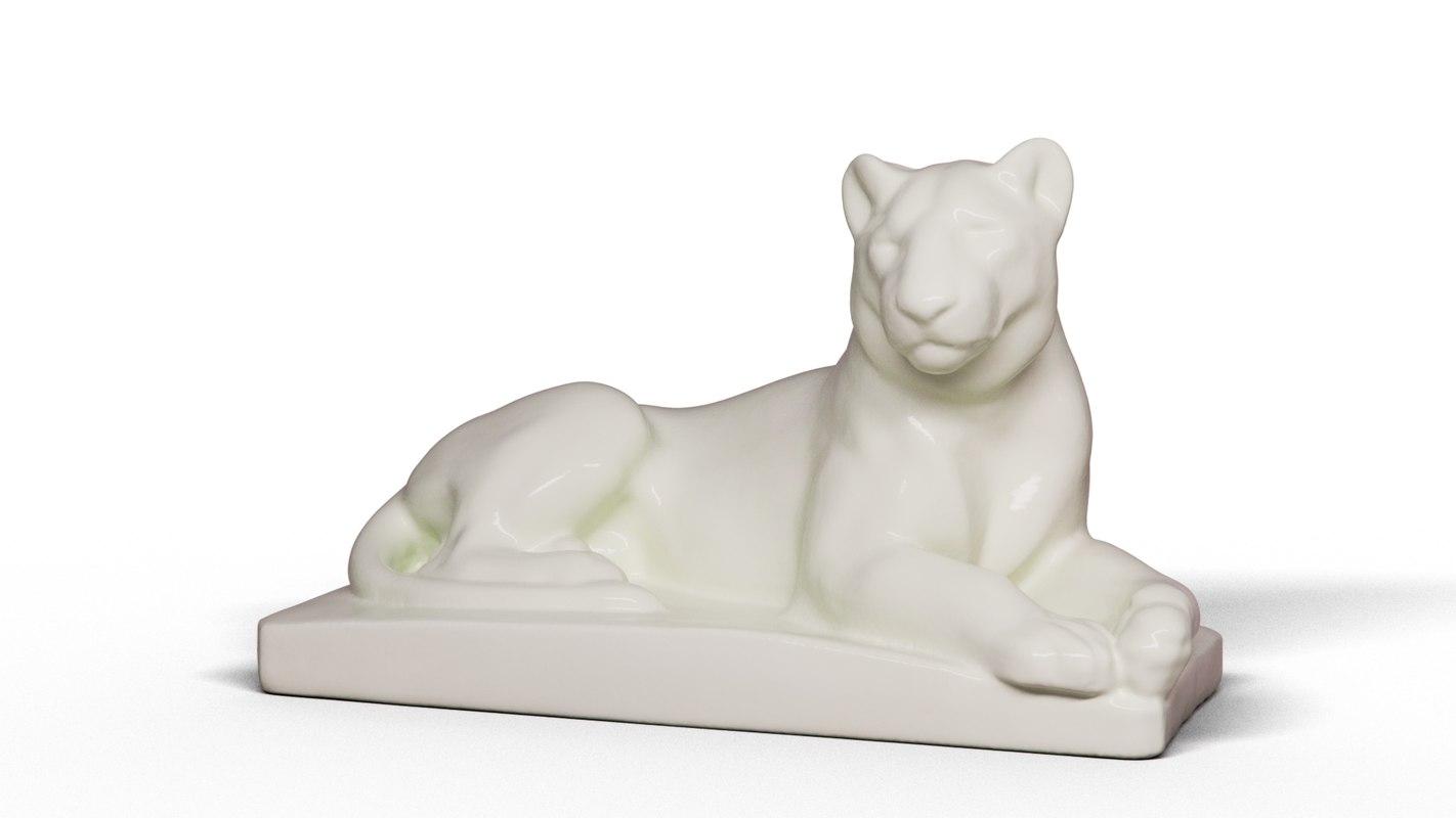 3D tigress ceramics model