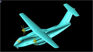 3D interpretation il-112 aircraft solid model
