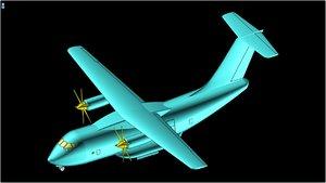 3D interpretation il-112 aircraft solid model
