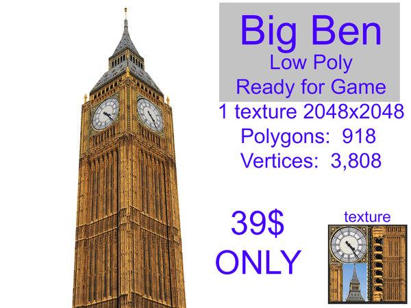 big ben ready 3D
