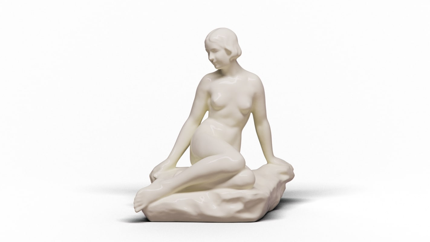 sitting nude model