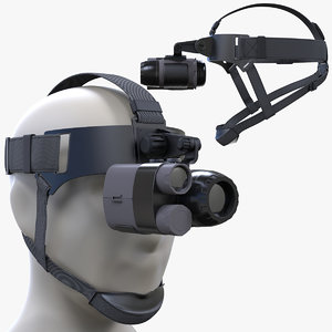 3D night vision monoclar head