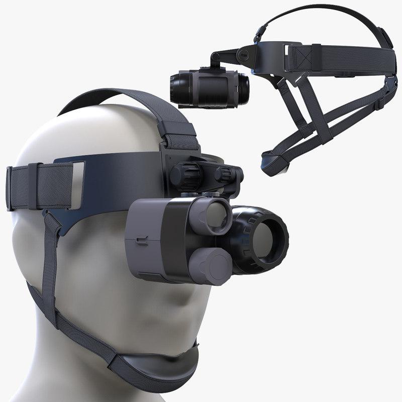3D night vision monoclar head