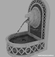 renaissance fountain 3D model