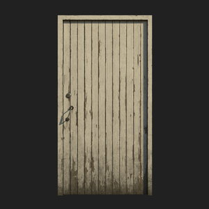 polys door wood 3D