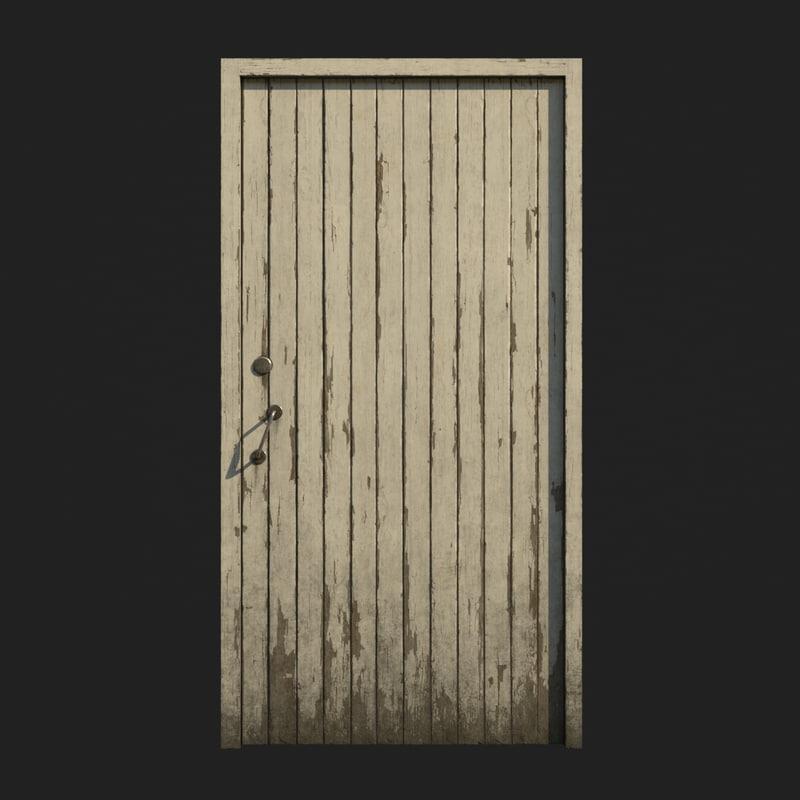 polys door wood 3D