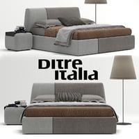 3D ditre italia sanders bed interior