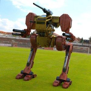 robot hawksclaw mech daz model