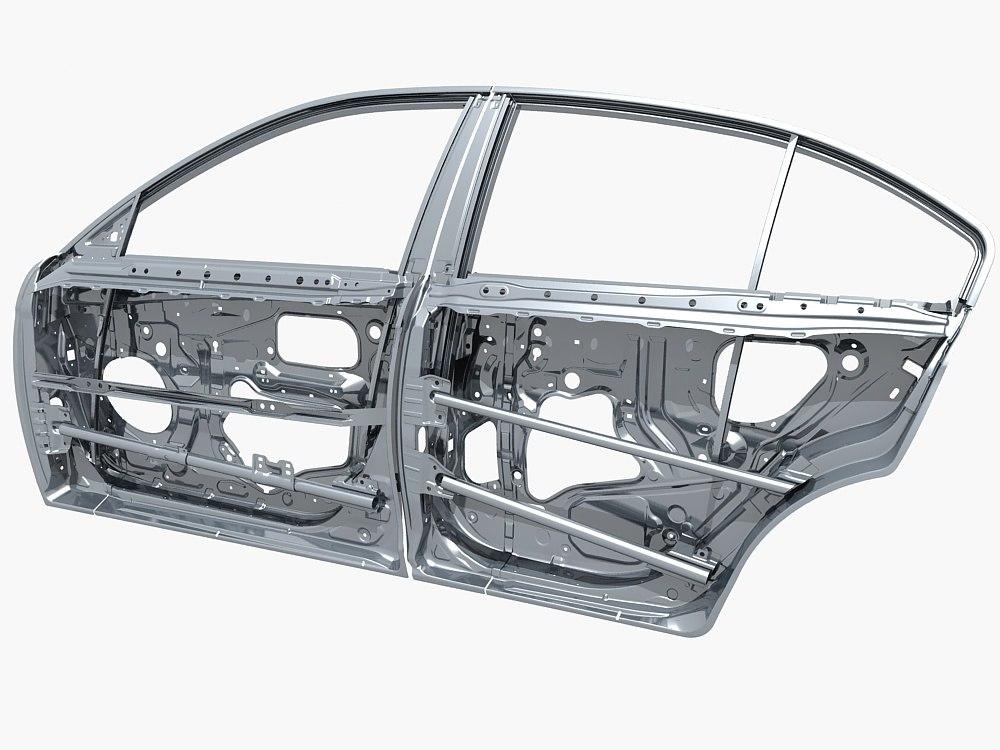 Car door frame 3D model - TurboSquid 1241144