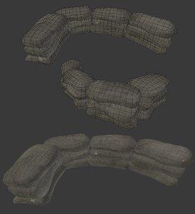3D sandbag wall model