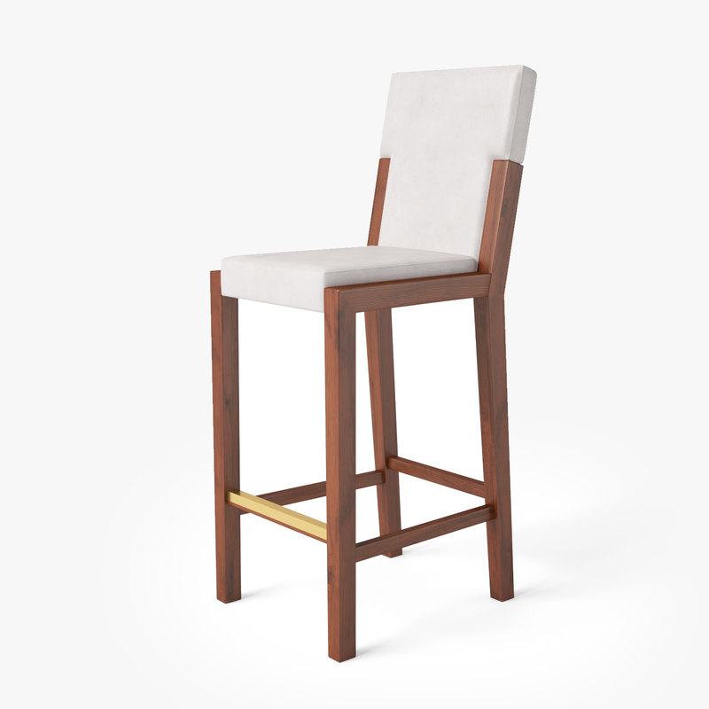 3D model euthalia barstool chair tonon